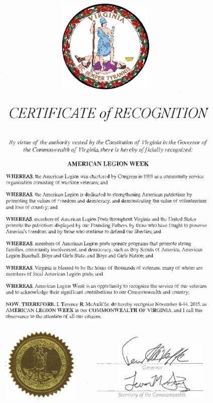 American Legion Week