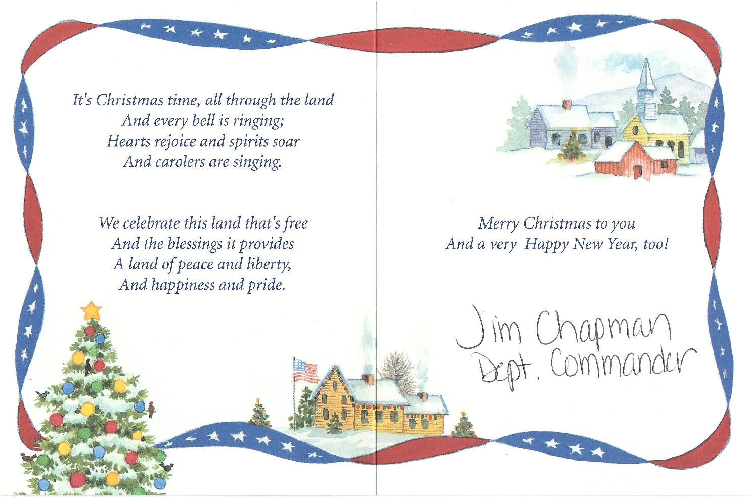 2015 Holiday Card from Dept of Virginia